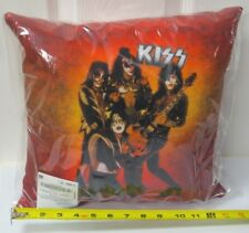 KISS 1976 GROUP POSE THROW PILLOW 14x14 OFFICIAL 2016 - BEAUTIFUL COLORS!