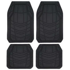 Car Floor Mats - All Weather Rubber Liners Trap Snow Mud Dirt Front & Rear Set