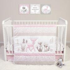 Trend Lab Sammy and Lou Sweet Forest Friends 4 PC Baby Nursery Crib Bedding Set