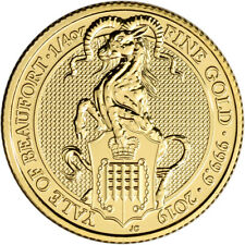 2019 Great Britain Gold Queen's Beasts - Yale £25 - 1/4 oz - BU