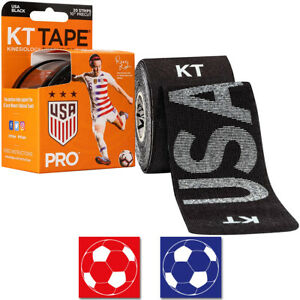 "KT Tape Pro 10"" Precut USA Rose Lavelle Kinesiology Sports Roll - 20 Strips"