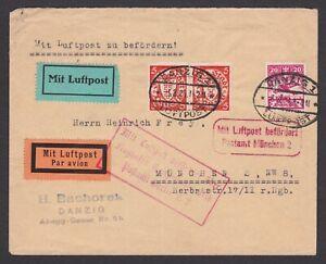 Germany. Danzig. 1925 Luftpost Cover to Munchen.