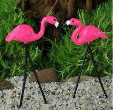 Miniature Fairy Garden Retro Pink Flamingos - Set of 2 - Buy 3 Save $5