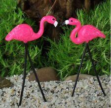 Miniature Fairy Garden Retro Pink Flamingos - Set of 2 - Buy 3 Save $5