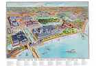 """1893 Columbian Exposition, Chicago, IL Map Art Print 13"""" x 19"""" Reproduction"""