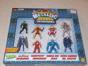 Comic Book Super Heroes DieCast Marvel Metallic Metal Action Figures Toy Biz