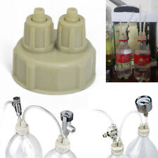 DIY CO2 System Kit Generator Part Bottle Cap with Tubes for Planted Aquarium