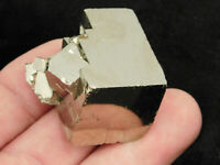 A Smaller Stepped Pyrite Crystal CUBE Cluster! From Peru 76.8gr