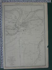 1922 LARGE AMERICA MAP ~ KANSAS CITY PLAN ENVIRONS PARK SCHOOLS RAND MCNALLY
