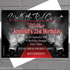 Hollywood Red Carpet a tema festa di compleanno Inviti x 100 + funzionale h0042
