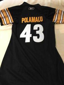 ladies steeler shirt reebok #43 Polamalu med.