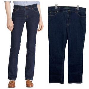 Lauren Ralph Lauren LRL Heritage Jean Size 16 Dark Wash Indigo Straight $89 NWT