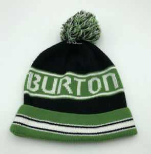 MEN'S BURTON POM POM HAT SKI - SNOWBOARD - BLACK/GREEN/WHITE