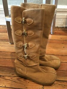 ROCKET DOG Knee-High Boots Womens 6.5 Tan Faux Suede Side Closure