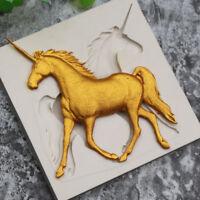Unicorn Horse Shaped Silicone Molds Fondant Cake Decorating Mould DIY 3D Tool