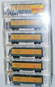 North Western.  N Scale 6 Pack 40' Double Wood-sheathed Reefers. Kadee/MT. New.