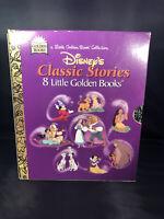 Vintage Walt Disney's Classic Stories 8 Little Golden Books Box Set
