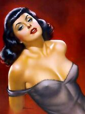 1940s Pin-Up Girl Ecstasy Picture Poster Print Vintage Art Pin Up