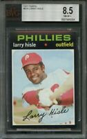 1971 topps #616 LARRY HISLE philadelphia phillies BGS BVG 8.5