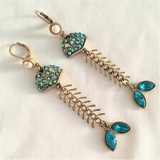"Betsey Johnson ""Into The Blue"" Fish Earrings"