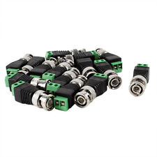 15 Pcs Screw Terminal Coax Cat5 to BNC Male Video Balun Connectors N3