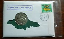 1969 JAMAICA - 25 CENTS on FIRST DAY COVER FDC - STREAM-TAILED HUMMINGBIRD