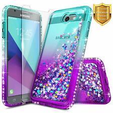 For Samsung Galaxy J3 Prime/J3 Luna Pro/J3 Emerge Case Liquid Glitter Cover