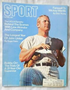 April 1969 SPORT Magazine Mickey Mantle New York Yankees