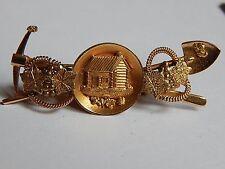 ANTIQUE 14K GOLD BLACK HILLS GOLD MINER PIN GOLD MINING SHOVEL PICK GOLD NUGGETS