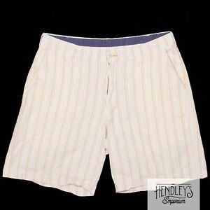 BILLS KHAKIS Seersucker Shorts 35 in Pastel Striped Cotton Flat Front USA