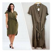 [ ATMOS&HERE ] Womens Bonnie wrap Dress NEW | Size AU 24