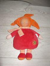 doudou poupée grelot orange rouge étoile cœur 25 cm corolle