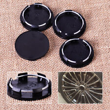 4pcs Black 50mm Car Auto Rim Blank Hub Cap Center Wheel Mounted Cover Tyre Trim