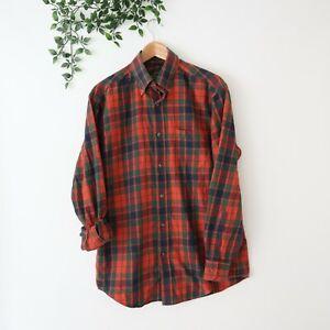 Orvis Men's Signature Collection Cotton Wool Blend Button Front Shirt M Medium