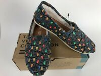 Toms Venice Collection Charcoal Glow Dark Tree Lights Canvas Shoes NIB