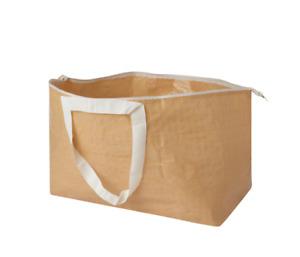 IKEA SLUKIS Carrier Bag Large Beige 71L, Reusable Storage Bag, new