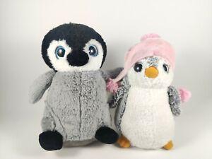 Penguin Plush Soft Toys X2 Korimco & Sea World Cute Baby Sparkling Eyes Penguins
