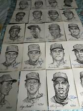 1969 METS AUTOGRAPHED PORTFOLIO OF STARS COMPLETE SET (19 of 20) SIGNED