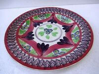 """Antique 19Th Century Spongeware Plate Dish Charger English Pottery Collectib""""F43"""