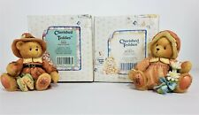 Cherished Teddies 1993 Pilgrim Figurines - Miles & Prudence New in original box