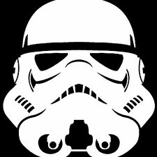 "Stormtrooper Window Sticker Vinyl Decal Car Truck Laptop Star Wars 4"" White"