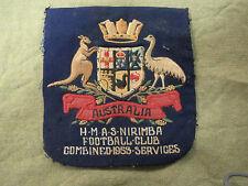 #D278. 1953 HMAS  NIRIMBA  AUSTRALIAN RULES  FOOTBALL  POCKET PATCH