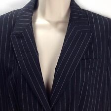 Body by Victoria Secret Black Pinstripe Poly Rayon Career Blazer Jacket Size 10