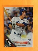 2016 Topps Series One Corey Seager RC Rookie #85 Base Dodgers 2