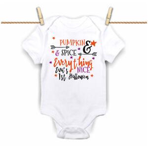 My First 1st Halloween 2019 Pumpkin & spice Baby Grow,Bodysuit, Vest  New