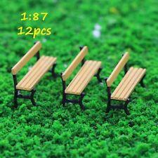 ZY27087Y 12pcs Freizeit Stuhl Sofa Bank Modellbahn Eisenbahn Spur HO Parkstraße