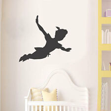 Peter pan shadow wall decal nursery vinyl sticker mural christmas kids children
