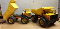 Lot of 2 Tonka Steel Turbo Diesel Dump Truck With All Decals 54782 1980's