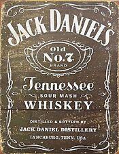 Blechschild Vintage Weathered Neu Jack Daniels Tennessee Whiskey 31 x 40,5 cm
