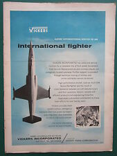 1/1960 PUB VICKERS AERO HYDRAULICS SPERRY RAND F-104 FLUID POWER EQUIPMENT AD